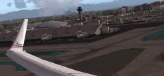 Wing View Departing KLAX