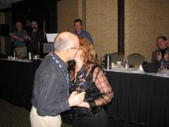 Peter Dowson Recieves Smooch.JPG