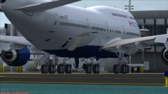 B744 Delta Livery At KLAX Gate