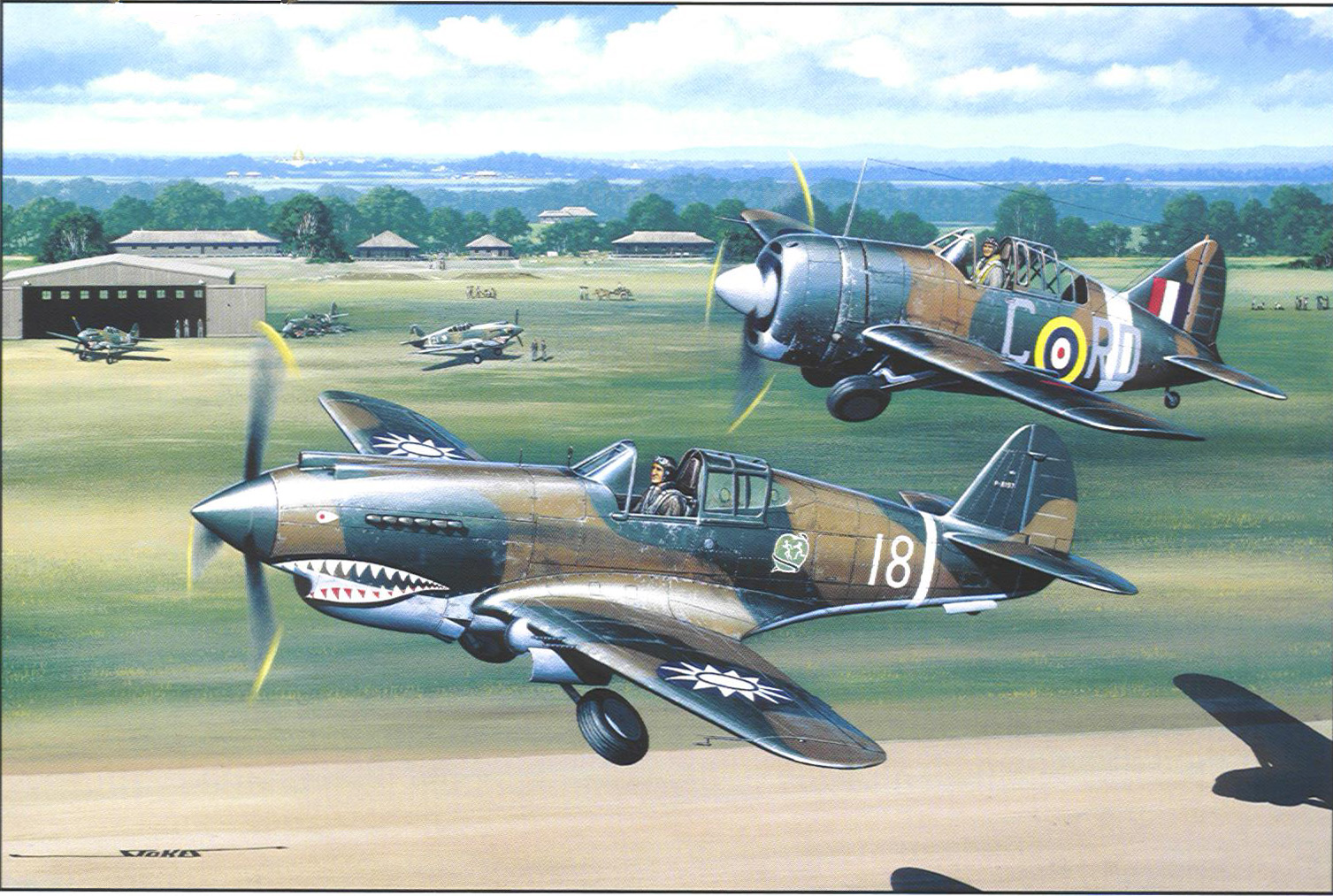 stokes flying tigers And buffalos