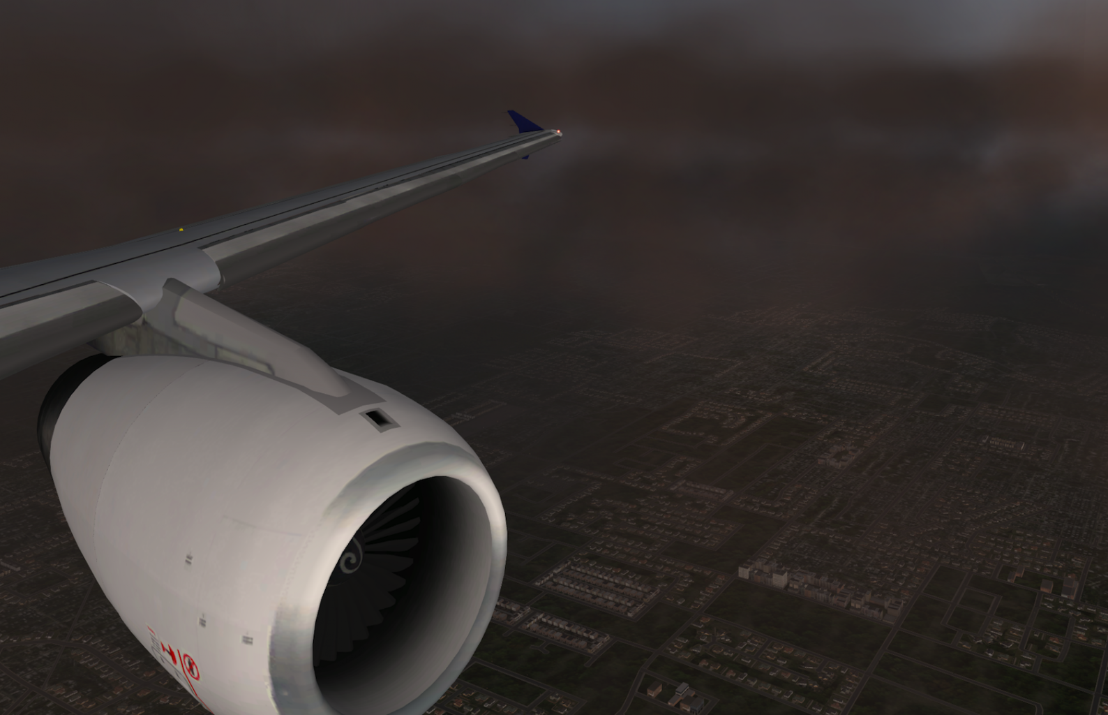 A320 232 on the decent into Vancouver