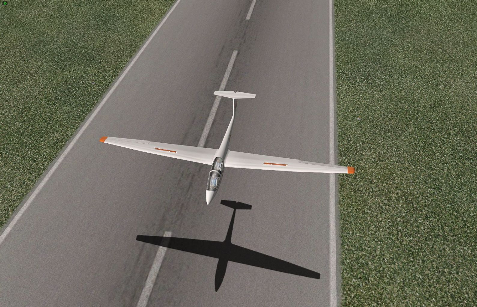 ASK21 Glider. Top view Of landing At FAPM, Natal In South Africa. X Plane 10 with No Add On.