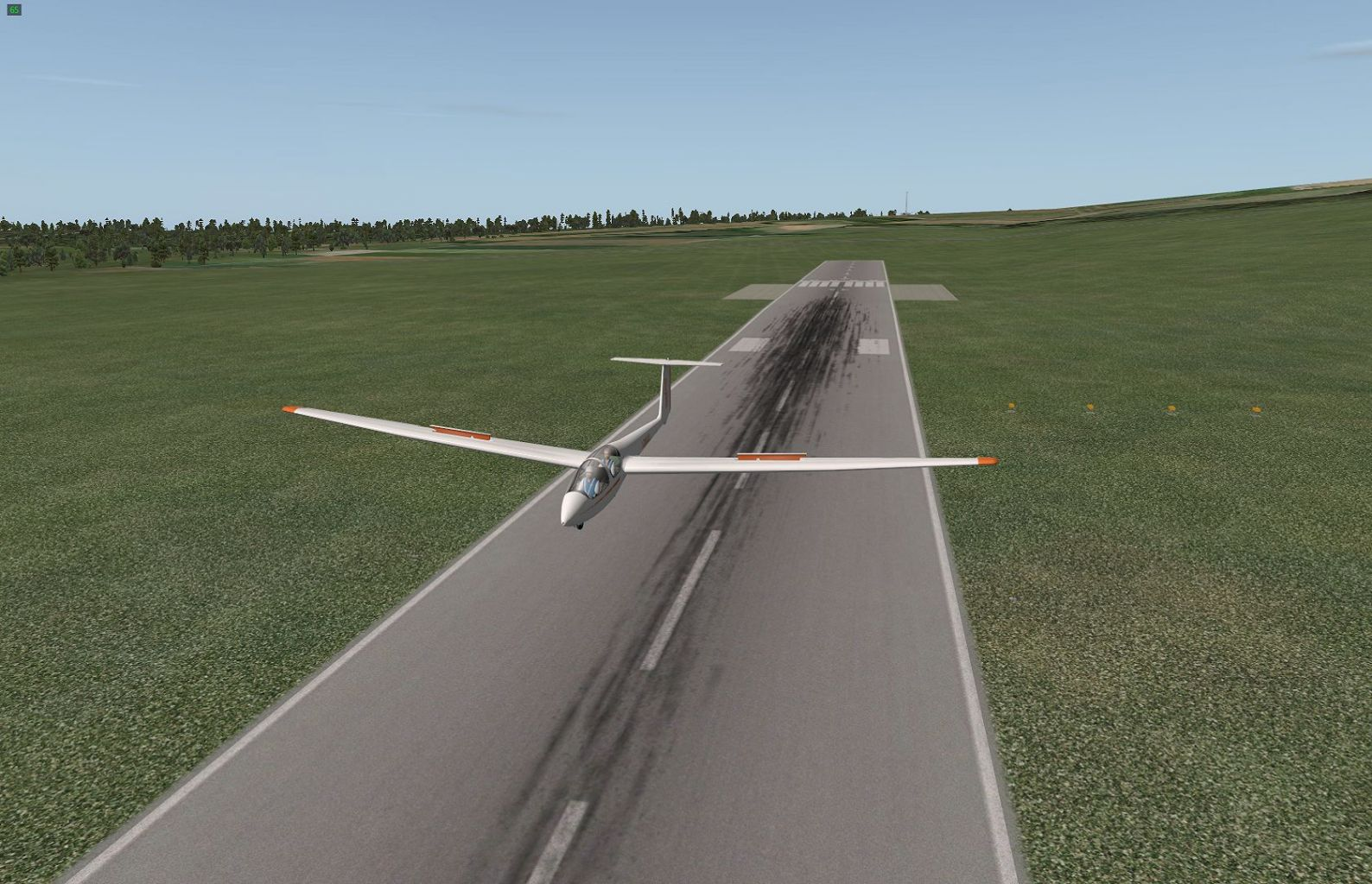 ASK21 Glider, landing At FAPM In Natal, South Africa. X plane 10 with No Add On.