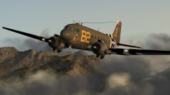 C-47 over southern Switzerland