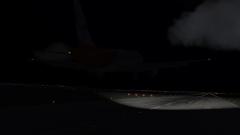 A320 landing at RPLC at night