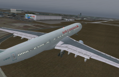 AC33 landing in YVR from YYZ for a quick stop on the way to Sydney