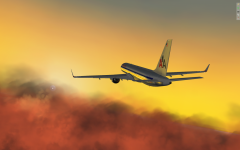 AAL 757 Cruising Sunset