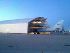Shuttle Enterprise at Hangar 19 in JFK