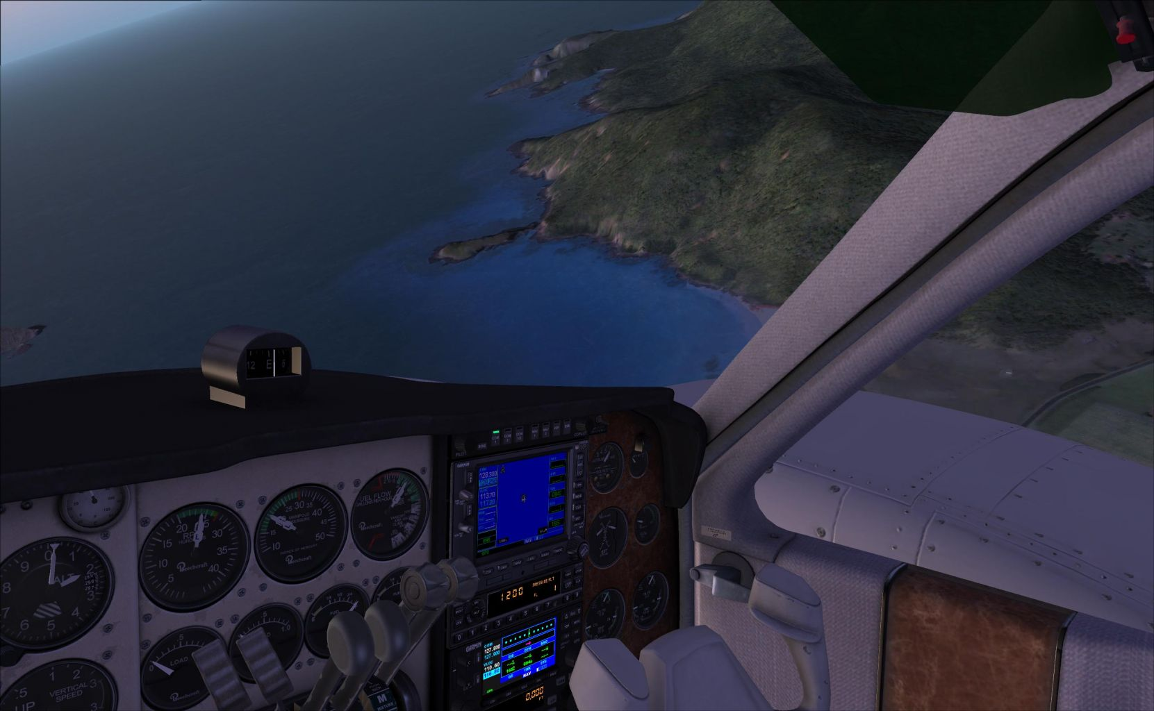 Lord Howe Island to Port Macquarie in the Milviz B55 Baron