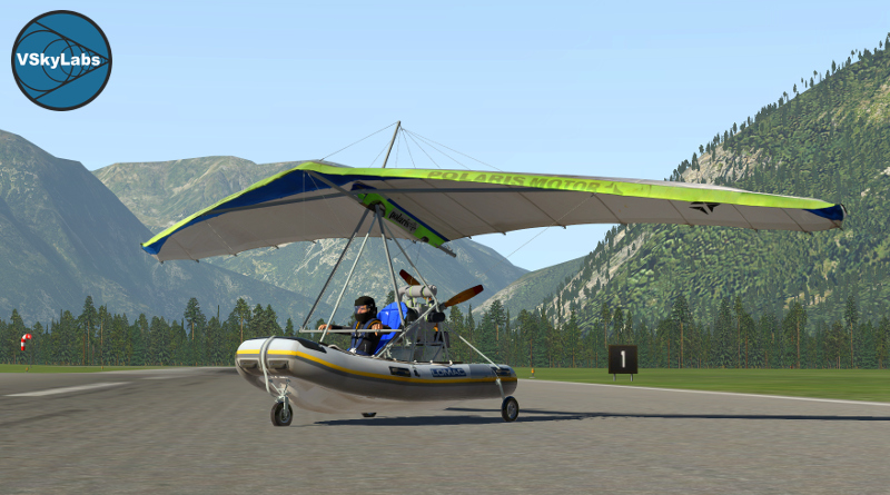 The VSKYLABS Powered Hang-glider Project - The X-Plane
