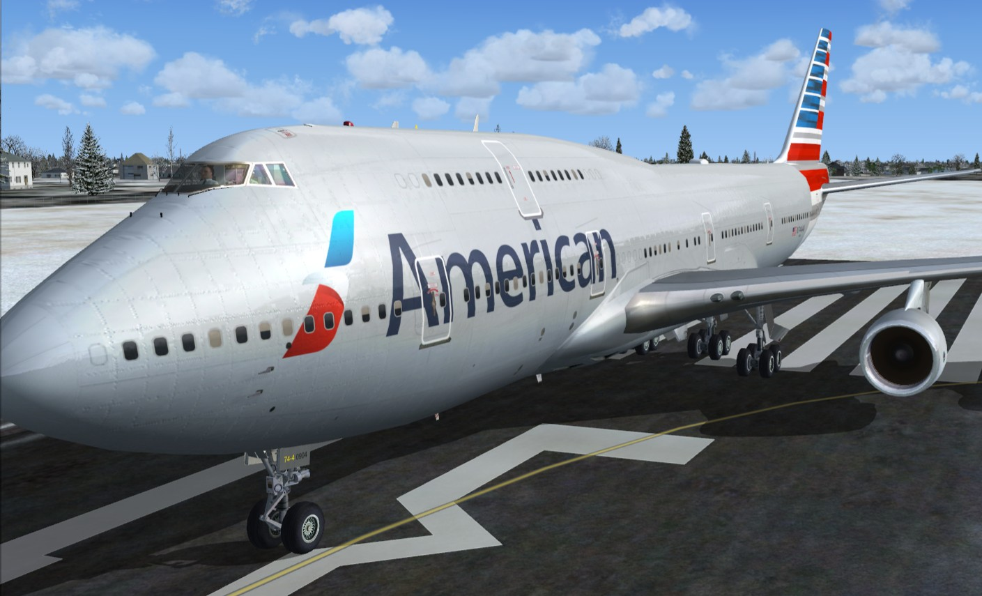 747 American Airlines 2013 Fictional Pmdg 747 400