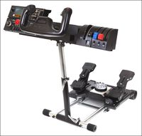 24e15171d43 What s a wheel stand  It s a device that holds Saitek rudder pedals and yoke  system